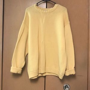 💛Vintage Gap oversized Yellow sweater!💛